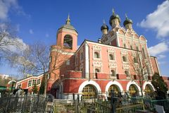 The Church of the Tikhvin icon of the Mother of God, Moscow Stock Images