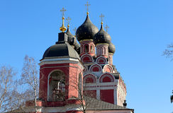 Church of Tikhvin icon of Theotokos, Moscow Royalty Free Stock Images
