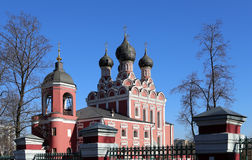 Church of Tikhvin icon of Theotokos, Moscow Royalty Free Stock Photos