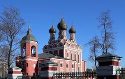 Church of Tikhvin icon of Theotokos, Moscow Royalty Free Stock Photos