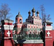 Church of Tikhvin icon of Theotokos, Moscow Stock Photos