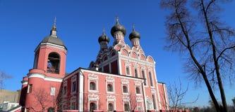 Church of Tikhvin icon of Theotokos, Moscow Stock Images
