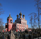 Church of Tikhvin icon of Theotokos, Moscow Stock Photo