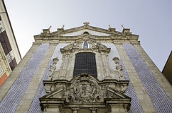 Church tiled. Tile Church, detail of a church in the city of Porto, Portugal Royalty Free Stock Photography