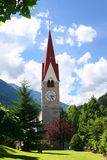 Church in Tirol. Tower of a typical church in tirol Royalty Free Stock Photography