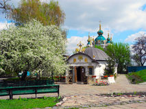 Church of the Tithes in spring, Kiev. stock photography