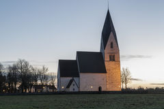 Church in Tofta, Gotland in Sweden Royalty Free Stock Photo