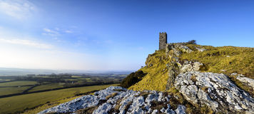 Brentor Church on Dartmoor in Devon Stock Images