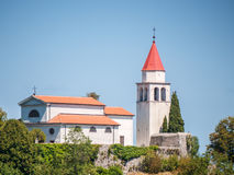 Church on top of a hill, Croatia Stock Images