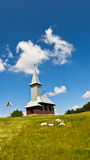 Church on a top of a hill at sunny summer day Stock Photography