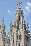 Church on top of Tibidabo Mountain, Spain Royalty Free Stock Photography