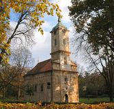 Church in Topcider. Is built in 19th century, by duke Milos Obrenovic. He built this church next to his manor stock photos