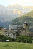 Church of Torla in Ordesa, pyrenees Royalty Free Stock Photo