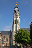 Church tower. In Middelburg , Holland Royalty Free Stock Photos