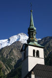 Church tower. Church in the mountains Royalty Free Stock Photography