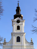 Church tower. Beautiful baroque church tower in Bjelovar; Croatia Stock Photography