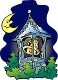 Church tower. Hand-drawn Vector illustration of an church tower Royalty Free Stock Photo