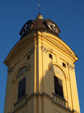 Church tower. The tower of the big church of Debrecen Stock Images