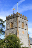Church Tower. Old Church Tower and Weather Vane Somerset England Royalty Free Stock Photography