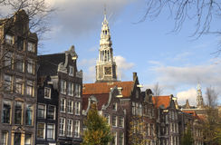 Church tower in Amsterdam, Holland Royalty Free Stock Photos