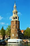 Church tower in Amsterdam, Netherlands, Europe Royalty Free Stock Image