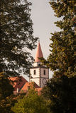 Church tower in the background Varaždin royalty free stock photo