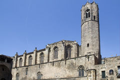Church tower of Barcelona, Spain Royalty Free Stock Photo