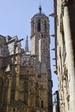 Church tower of Barcelona, Spain Stock Photo