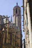 Church tower of Barcelona, Spain Stock Photo
