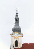 Church tower with belfry Stock Photos