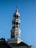 Church. Tower in beyond blue Sky Stock Images