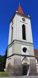 Church tower in Blatna Stock Photo
