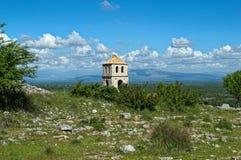 Church tower on bribir fortress, Dalmatia. Church tower on bribir fortress in Dalmatia Royalty Free Stock Images