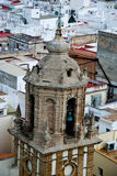 Church tower in Cadiz royalty free stock photos