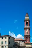 Church tower in Cairo Montenotte, Liguria Royalty Free Stock Photo