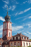 Church tower of the castle in Bruchsal, Germany Royalty Free Stock Photos