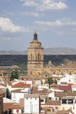 Church tower of cathedral in Guadix, Andalusia, Spain Royalty Free Stock Photography