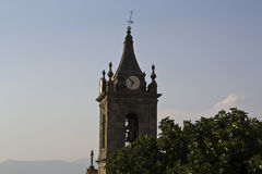 Church tower. With blue sky Stock Images