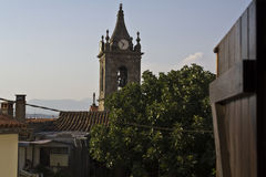 Church tower. View from home Stock Images