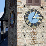 Church Tower with Clock Stock Images
