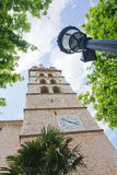 Church tower with clock Stock Image