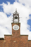 Church tower with clock Royalty Free Stock Images
