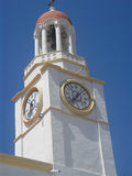 Church tower with clock, Greece Stock Photography