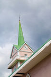 Church tower. With clock at Papete the captial of French Polynesia Stock Image