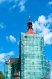 Church tower construction Royalty Free Stock Photography