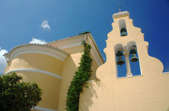 Church tower in Corfu island Stock Photography