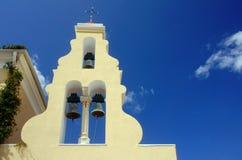 Church tower in Corfu island Stock Photos