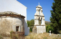 Church tower in Corfu island Stock Images