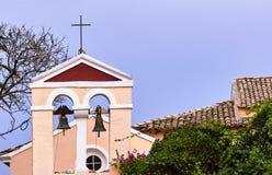Church tower in Corfu island. Greece Stock Photos
