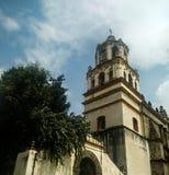 Church tower. A church tower in coyoacan mexico Stock Photos